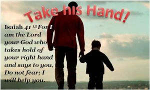 Bible his hand