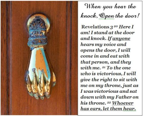 Bible open the door