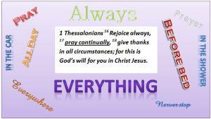 Bible pray always