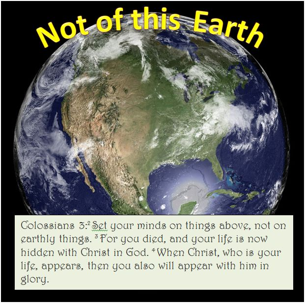 bible not of this earth