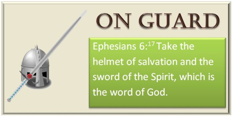 Bible on guard