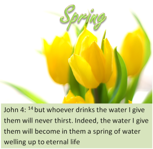 Jesus is a spring of love