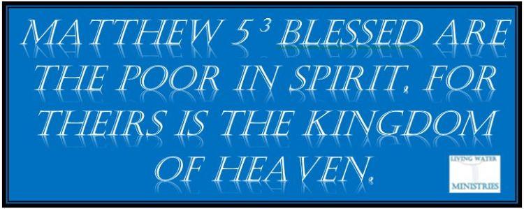 Bible poor in spirit
