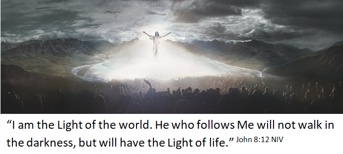 He is our light in the darkness
